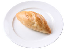 Хлеб на белой плите Стоковое фото RF
