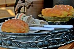 Хлеб на подносе Стоковое Фото