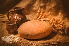 Хлеб на sacking Стоковые Фото