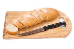 хлеб доски прерывая отрезанное деревянное Стоковые Фото