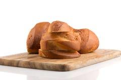 хлеб доски прерывая отрезанное деревянное Стоковое Фото