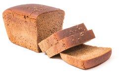 хлеб отрезает wholemeal стоковое изображение