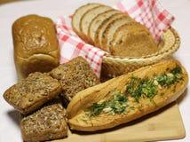 хлеб печатает различное на машинке Стоковая Фотография RF