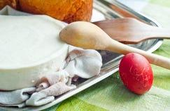 хлеб предпосылки испечет белизну теней подготовки печень пасхальныхя мягко Стоковое Изображение RF