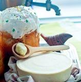 хлеб предпосылки испечет белизну теней подготовки печень пасхальныхя мягко Стоковые Изображения RF