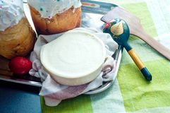 хлеб предпосылки испечет белизну теней подготовки печень пасхальныхя мягко Стоковые Фото