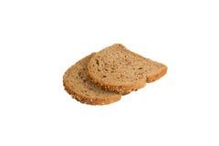 хлеб предпосылки черный изолировал белизну частей 2 предметов стоковое изображение rf
