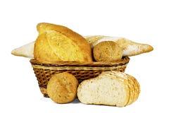 Хлеб пшеницы в корзине Стоковая Фотография