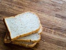 Хлеб пшеницы на таблице Стоковая Фотография