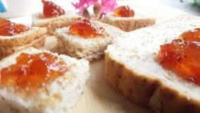 Хлеб пшеницы Strawerrywhole с ананасом Стоковые Изображения