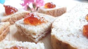 Хлеб пшеницы Strawerrywhole с ананасом Стоковая Фотография