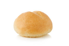 Хлеб плюшки на белизне Стоковая Фотография