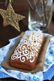 Хлеб рождества с поливой стоковые изображения rf