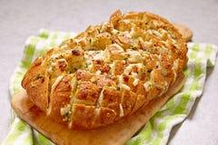 Хлеб сыра и чеснока великолепный Стоковое фото RF