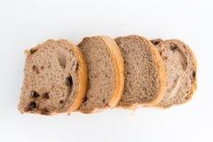 Хлеб с грецкими орехами и обломоками шоколада Стоковая Фотография