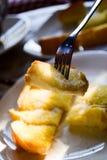 Хлеб с маслом, брызгает сахар Стоковая Фотография