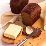 Хлеб с маслом Rye Стоковое Изображение