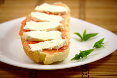 Хлеб с сыром Стоковое фото RF