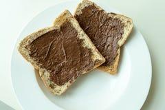Хлеб с сливк шоколада стоковое фото