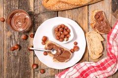 Хлеб с сливк шоколада стоковое изображение
