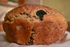 Хлеб с черными оливками Стоковое Фото