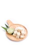 Хлеб с pandan заварным кремом на белой предпосылке Стоковое Изображение