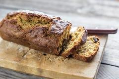 Хлеб тыквы на деревянной доске Стоковое Фото