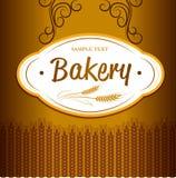 Хлеб хлебопекарни Безшовная картина предпосылки Стоковое Фото