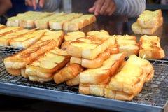 Хлеб чеснока меда барбекю Стоковые Фото