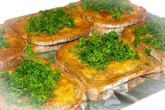 Хлеб чеснока с петрушкой Стоковые Фотографии RF