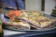Хлеб Foccacia в Генуе Италии Стоковые Фото
