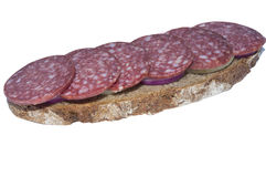 Хлеб Rye и копченая сосиска Стоковое Фото