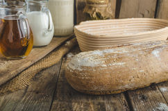 Хлеб Sourdough с пивом Стоковая Фотография