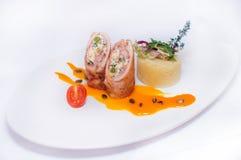 Хлеец мяса с картофельными пюре Стоковое Изображение