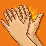 2 хлопать и рукоплескания рук иллюстрация вектора