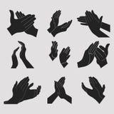 Хлопать рукоплескания установленный Стоковые Фотографии RF