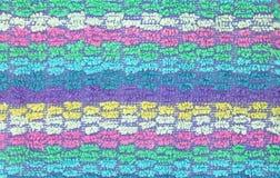 Хлопко-бумажная ткань текстуры пестротканая Стоковая Фотография RF