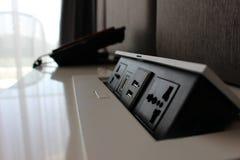 Хлопните вверх гнездо штепсельной вилки USB HDMI Стоковая Фотография