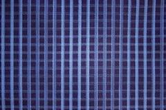 Хлопок голубой checkered ткани предпосылки грубый Стоковая Фотография RF