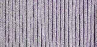 Хлопок связанный тканью, текстура шерстей Стоковые Изображения