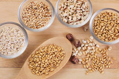 Хлопья, зерно и семена Стоковые Фото