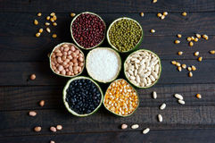 Хлопья, здоровая еда, волокно, протеин, зерно, противоокислительн Стоковые Фотографии RF