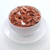 Хлопья для завтрака приправленные шоколадом Стоковое фото RF
