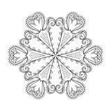 Хлопь снега Zentangle элегантный Иллюстрация зимы вектора на декабрь бесплатная иллюстрация