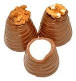 Хлыст грецкого ореха шоколада Стоковое Фото