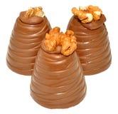 Хлыст грецкого ореха шоколада Стоковая Фотография