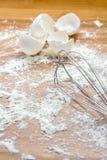 Хлыст и мука яичка Стоковые Изображения RF