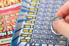 Царапать билет лотереи Стоковое фото RF
