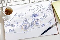 Царапина сделанная во время фантазировать о задействовать Стоковое Фото