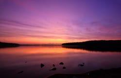 царственный заход солнца Стоковые Фотографии RF